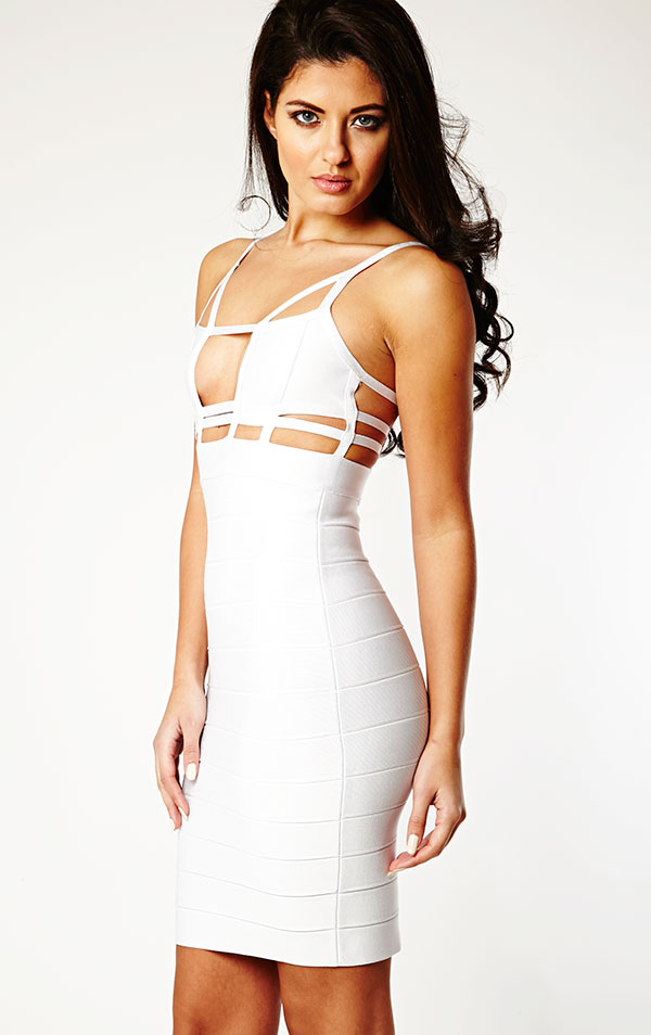 bbedc984827 WHITE BANDAGE DRESS - Gunda Daras