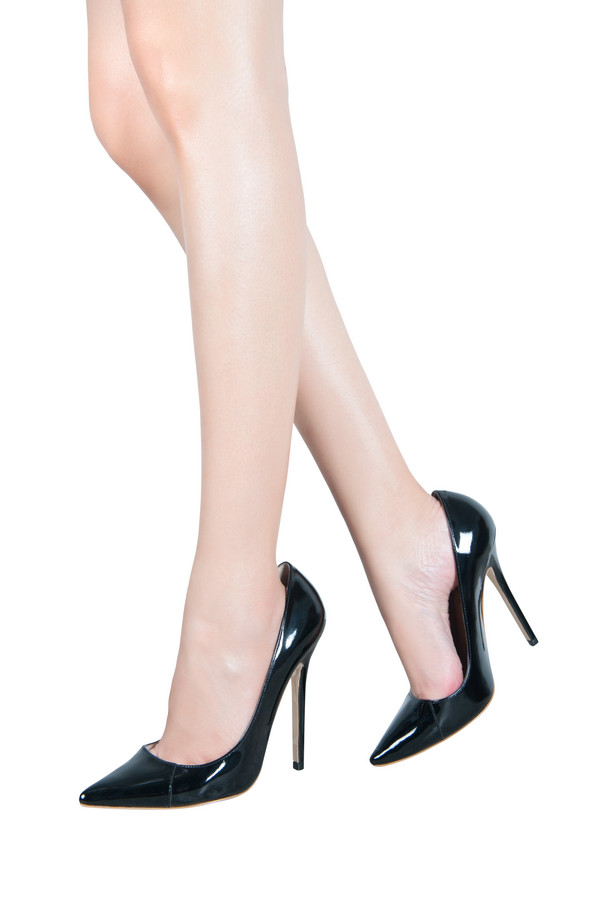 Shoes Paris Patent Leather Black Pointed Toe High Heel