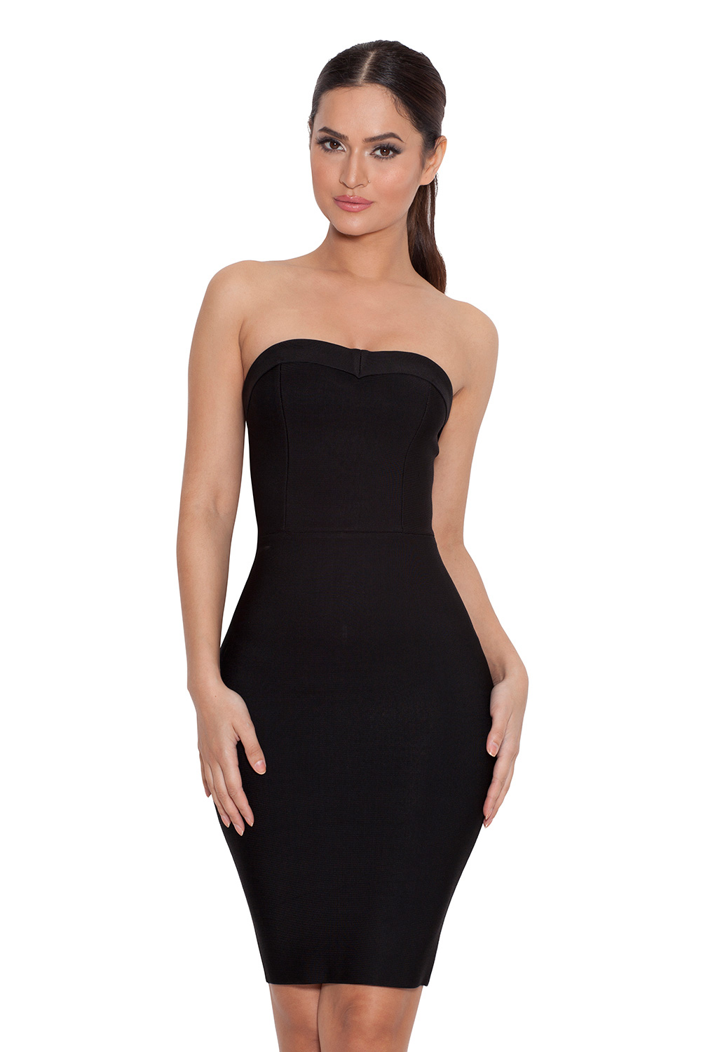 Simple Black Strapless Dress Cocktail Dresses 2016